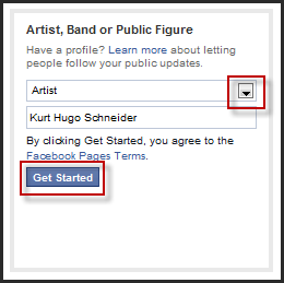 how to create a fan page